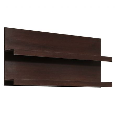Pello 136 cm Wide Wall Shelf in Dark Mahogany